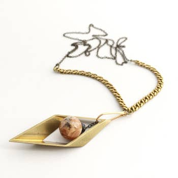 Kinetic Necklace - Brass