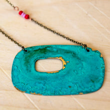 Load image into Gallery viewer, Patina Beaded Necklace