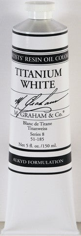 M Graham Titanium White Rapid Drying Oil Paint 5 oz
