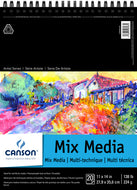 Canson Mixed Media 20 Sheet Wirebound Pad