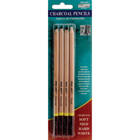 Pro Art Compressed Charcoal Pencils