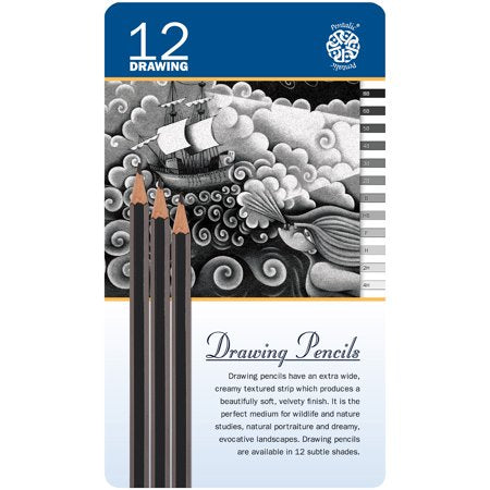 Pentalic Drawing Pencils - 12 Shades
