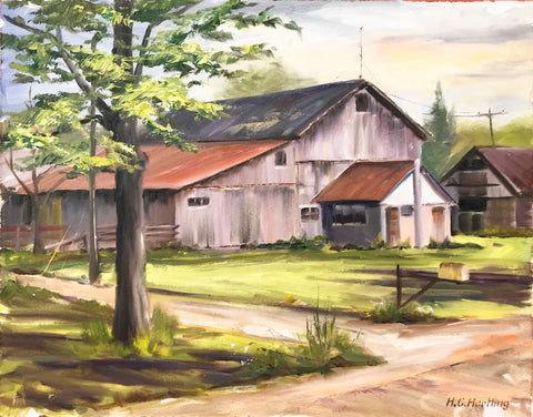 Barn #1 Plein Air Oil Painting