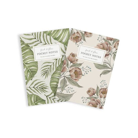 Pocket Notebook Set - Tropical Bundle + Garden Peonies
