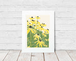 Black Eyed Susan's – block print