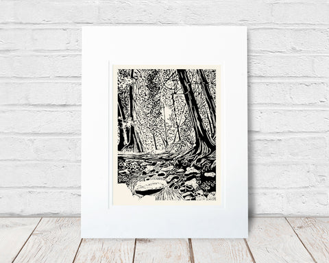 Brown's Brook – block print