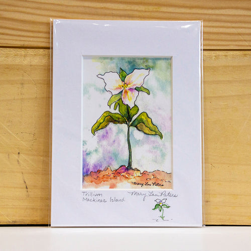 Trillium print by Mary Lou Peters.