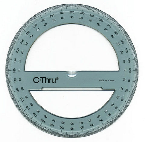 "C-Thru 360 Degree 6"" Circular Protractor"