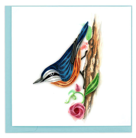 "Greeting card by Quilling Card. Certified Fair Trade art cards handcrafted in Vietnam. 6"" x 6"" Blank inside. Extra postage required.  An ideal card to send to a friend or frame it as art!"