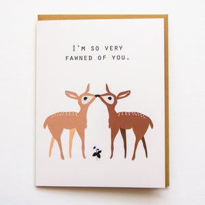 So Fawned of You - Love & Anniversary A2 Card