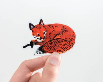 Red Fox Animal Vinyl Sticker