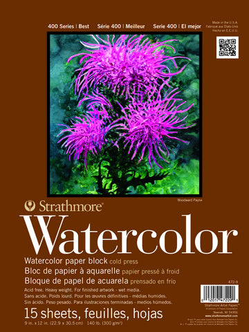 Strathmore 400 Series Watercolor Paper Block 140#