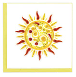 Sun. Handcrafted quilled art card that's truly a work of art.  Certified Fair Trade made in Vietnam.