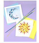 Sun and Moon. Handcrafted quilled art cards that are truly a work of art.  Certified Fair Trade made in Vietnam.