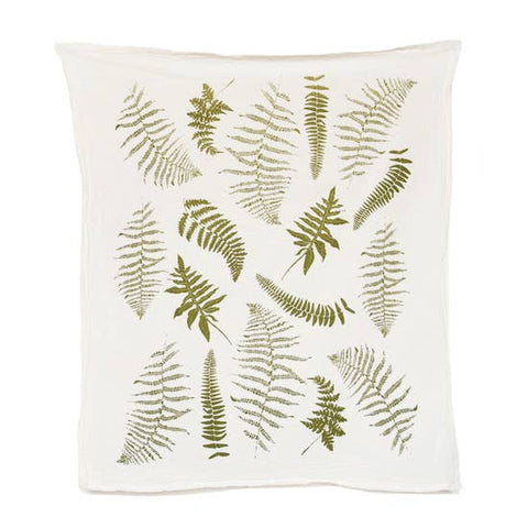 Fronds Flour Sack Tea Towel