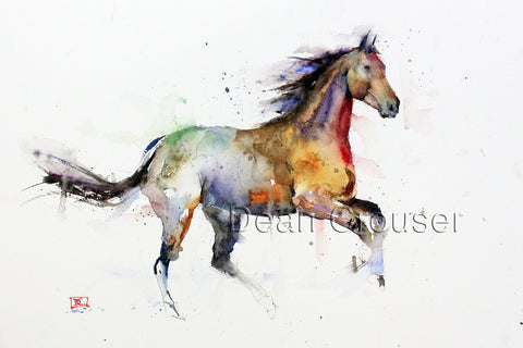 Free Spirit - Horse Watercolor Tile