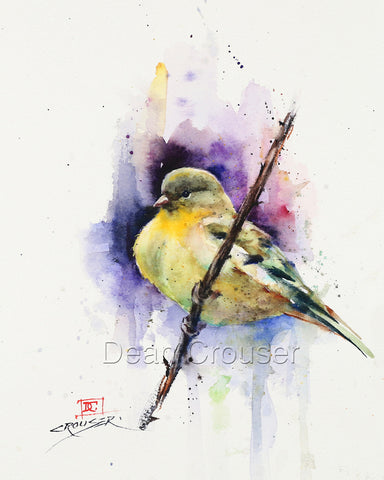 Nestled In - Bird Nest Watercolor Tile