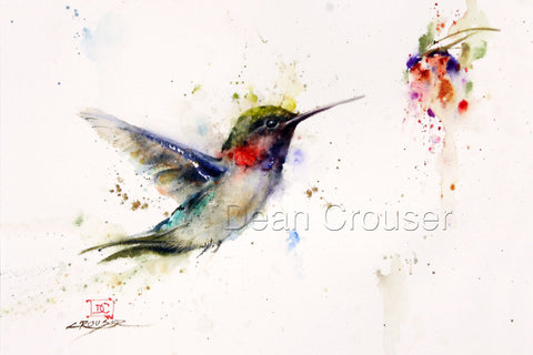 Opportunity Knocks - Hummingbird Watercolor Tile