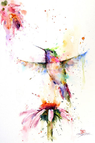 Pee Wee - Hummingbird Watercolor Tile