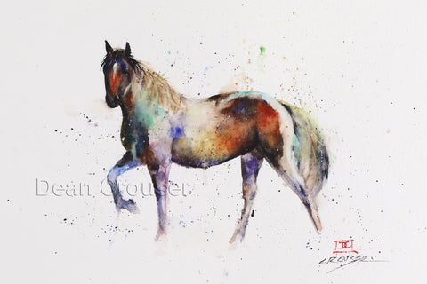 Steppin' Out - Horse Watercolor Tile