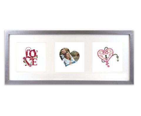 Quilling Card  triple frame – heart custom package