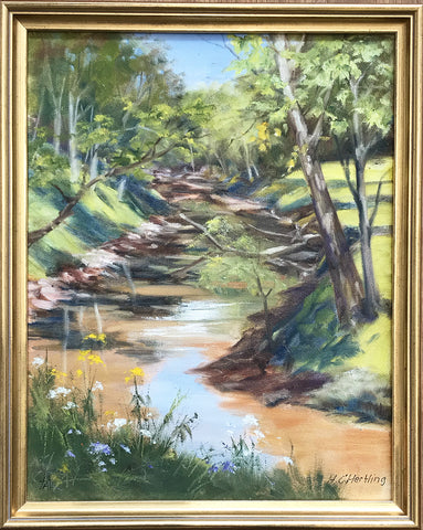 Woodland Stream – oil