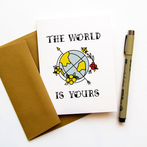 The World is Yours - Congratulations A2 Card