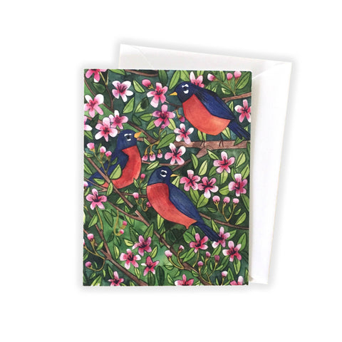 Three Robins Notecard