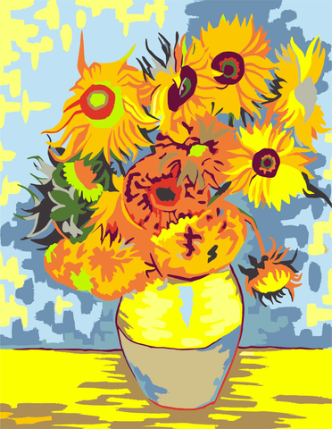 Artwille Diy Paint by Numbers For Adult And Kid - Sunflowers