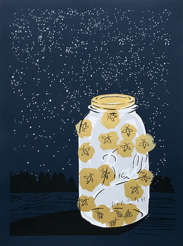 Fireflies - screen print