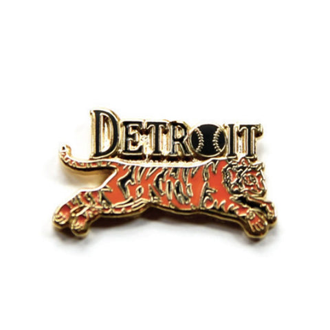 Leaping Tiger Enamel Pin