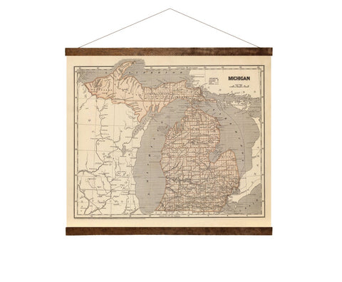 Michigan 1844 - map
