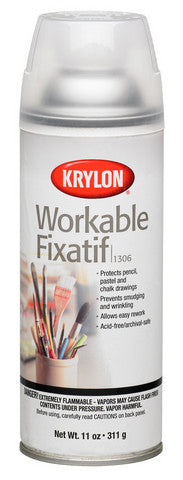 Krylon Workable Spray Fixative - 11oz