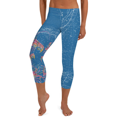 Blue Lobster Water Leggings