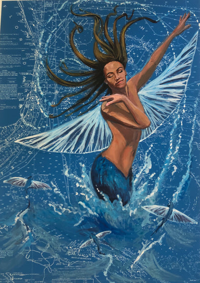 Florida Flying Fish Mermaid
