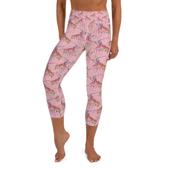 Pink Lobster Water Leggings
