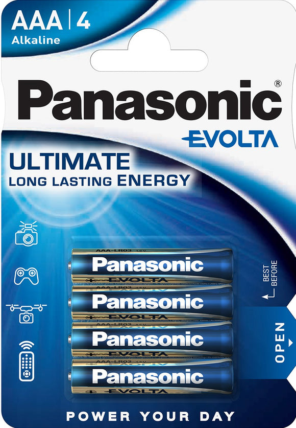 Panasonic Evolta AAA4 batteries
