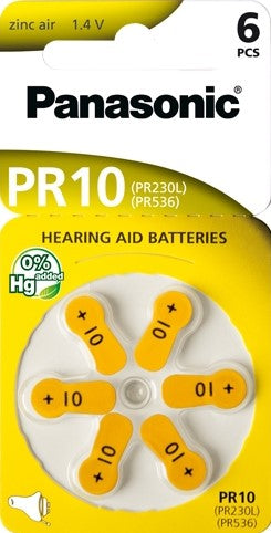 PR10/6LB Hearing Aid battery