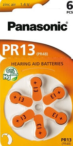 PR13/6LB Hearing Aid battery