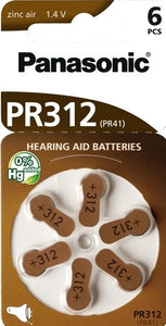 PR312/6LB Hearing Aid battery