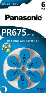 PR675/6LB Hearing Aid battery
