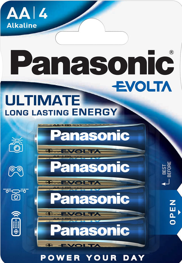 Panasonic Evolta AA4 batteries
