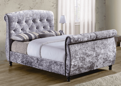 Madrid Upholstered Sleigh Bed Frame