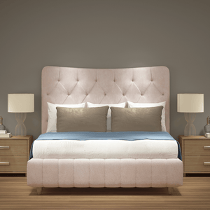 Luxury Curved Top Ottoman Upholstered Bed