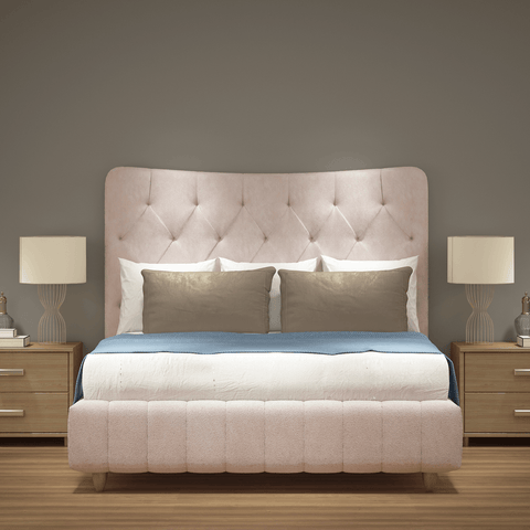 Luxury Curved Top Upholstered Bed