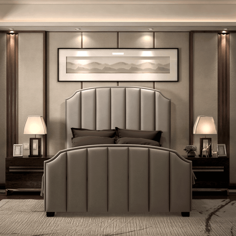 Luxury Elegant Upholstered Bed