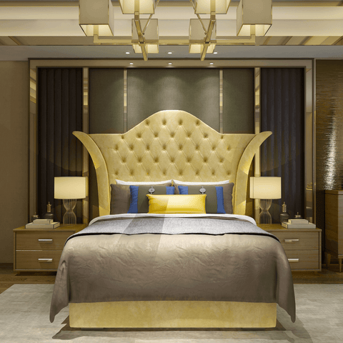 Luxury Majestic Upholstered Bed