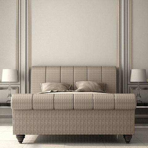 Luxury Roll Top Upholstered Bed