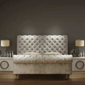Luxury Sleigh Upholstered Bed
