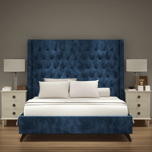 Luxury Winged Upholstered Bed